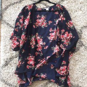 Dizzy Gal Size 2x Floral Kimono